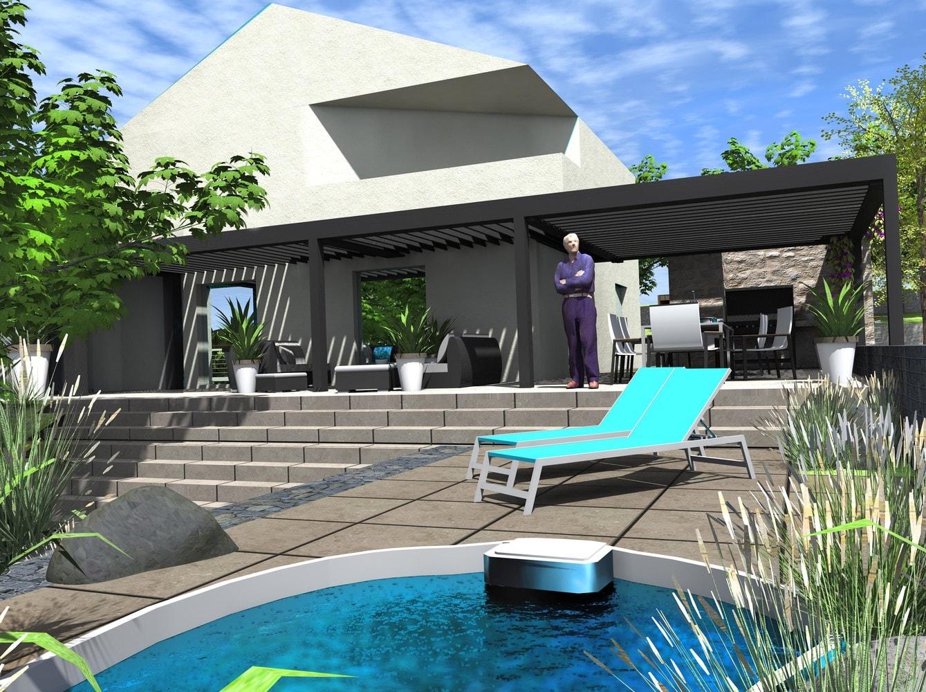 amenagement terrasse avec spa la fondation sur pieux with. Black Bedroom Furniture Sets. Home Design Ideas